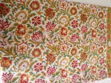 Buy 5 yards natural Indian Hand Made pure cotton fabric hand block printed fabrics