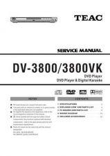 Buy Teac DV-3800 3800VK temp Service Manual by download Mauritron #223685