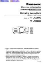 Buy Panasonic PTL701 702 Operating Instruction Book by download Mauritron #236319