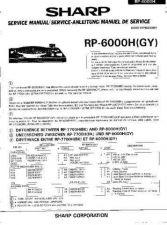 Buy Sharp RP6000H -DE-FR(1) Service Manual by download Mauritron #209451