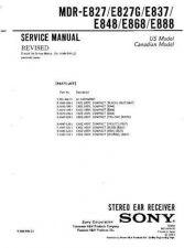 Buy Sony MDR-E837 Service Manual. by download Mauritron #242550