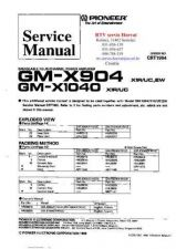 Buy PIONEER GMX904 GMX1040 CRT1984 Technical Information by download #119268