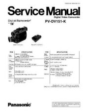 Buy Panasonic pvgs150-sm Service Manual by download Mauritron #268447