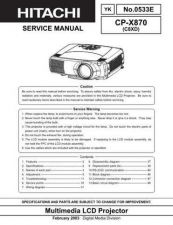 Buy Hitachi CPX870 Service Manual Schematics by download Mauritron #205927