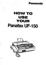 Buy Panasonic UF150 Operating Instruction Book by download Mauritron #236656