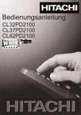 Buy Hitachi CL37PD2100 DE Manual by download Mauritron #224434