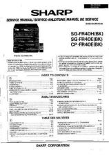 Buy Sharp SGFR40H-E-CDFR40E -DE-(1) Service Manual by download Mauritron #210615
