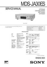Buy Sony MDS-JA30ES Service Manual. by download Mauritron #242668