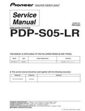 Buy Pioneer PDP-S05-LR Manual by download Mauritron #227673