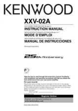Buy Kenwood XXV-02A Operating Guide by download Mauritron #220009
