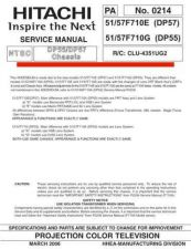 Buy Hitachi CLU-4351UG2-6 Service Manual by download Mauritron #260614