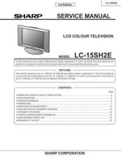 Buy Sharp LC17SH1E (1) Service Manual by download Mauritron #209867