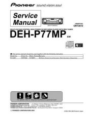 Buy Pioneer DEH-P77MP Technical Manual by download Mauritron #232560