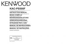 Buy Kenwood KAC-PS520 Operating Guide by download Mauritron #221388
