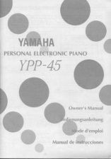 Buy Yamaha YPP45E Operating Guide by download Mauritron #250350