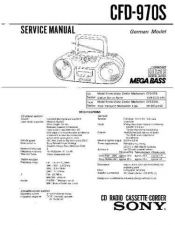 Buy Sony CFD-970S Service Manual by download Mauritron #238777