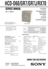 Buy Sony HCD-GR7[2] Service Manual by download Mauritron #241026