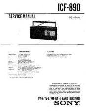 Buy Sony ICF-890 Service Manual. by download Mauritron #241508