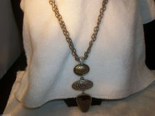 Buy Laura Ashley signed Necklace with 3 drop pendant