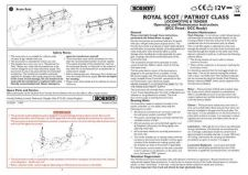 Buy Hornby Royal Scot Patriot Class Maintenance Sheets by download Mauritron #20720