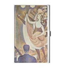 Buy Can Can Dancers Seurat Art Business Credit Card Holder