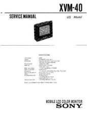 Buy Sony xvm-40 Service Manual. by download Mauritron #246475