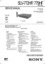 Buy Sony SLV-772HF 779HF Technical Manual. by download Mauritron #243915