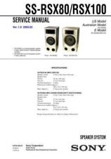 Buy Sony SS-RG55 Service Manual. by download Mauritron #244893