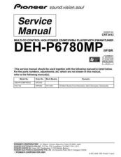 Buy Pioneer DEH-P6780MP-1 Technical Manual by download Mauritron #232415