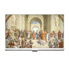 Buy School Of Athens Philosophers Art Business Credit Card Case Holder