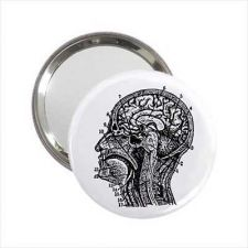 Buy Human Head Vintage Anatomy Mini Purse Mirror