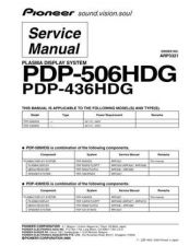 Buy Pioneer PDP-435PE Service Manual by download Mauritron #235014