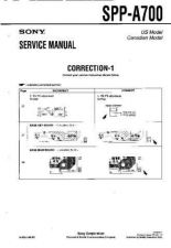 Buy Sony SPP-A700... Service Manual. by download Mauritron #244413