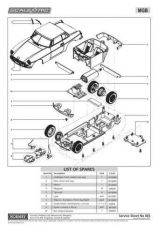 Buy Scalextrix No.465 MGB Service Sheets by download Mauritron #206645