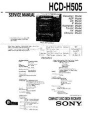 Buy Sony HCD-H501 Service Manual by download Mauritron #241133