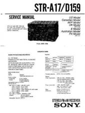 Buy Sony STR-D1011S Service Manual. by download Mauritron #245011