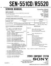 Buy Sony SEN-551CD-R5520 Service Manual by download Mauritron #232376