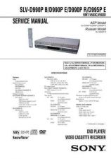 Buy Sony SLV-D500P RMT-V501B (2) Technical Manual. by download Mauritron #243953