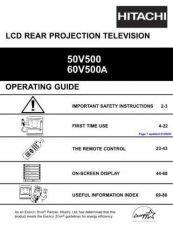 Buy Hitachi 50V500 Manual by download Mauritron #224225