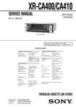 Buy Sony XR-CA333. Service Manual. by download Mauritron #246230