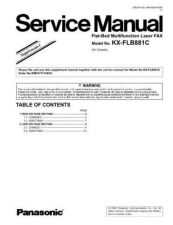 Buy Panasonic KX-FP145 Service Manual by download Mauritron #267297