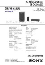 Buy Sony SAVA-59 Technical Manual. by download Mauritron #243730