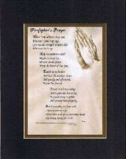 Buy Inspirational Poem - Heartfelt Poem for Firefighters - Firefighter's Prayer. . .