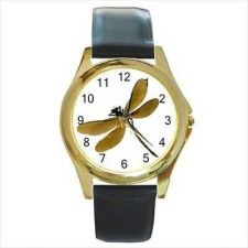 Buy Dragonfly Insect Bug Gold Tone Unisex Wrist Watch NEW