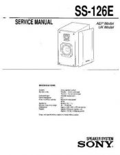 Buy Sony SS-126E Service Manual by download Mauritron #233170