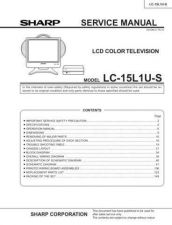 Buy Sharp LC15M4E Service Manual by download Mauritron #209859