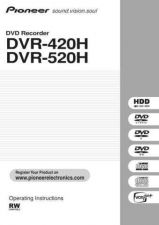 Buy Pioneer 109033015 Operating INSTRUCTIONS DVR-520H by download Mauritron #223212