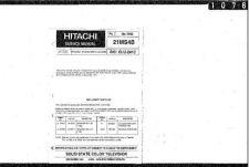 Buy Hitachi 21MS4B Service Manual Schematics by download Mauritron #205700