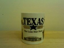 Buy vintage Texas coffee cup with history of Texas