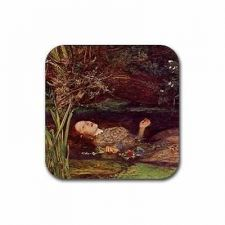 Buy Ophelia Suicide Ophelia Suicide Sir John Everett Set Of 4 Square Rubber Coasters